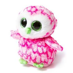 Ty Beanie Boos Bubbly the Owl | Claire%u2019s %u2013 I have this owl in the normal colors and it is soo cutee!!! :)