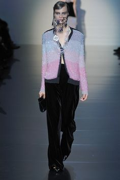 Armani Privé Fall 2012 Couture Fashion Show - Vanessa Axente