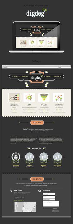 DigDog Agency website by Anton Shineft, via Behance