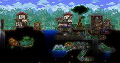Terraria House Design, Terraria House Ideas, Some Ideas, Terrarium, Minecraft, Aquarium, Nerd, Base, Create