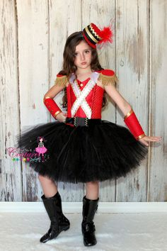 Nutcracker toy soldier costume pinteres nutcracker inspired tutu costume in red black gold solutioingenieria Choice Image