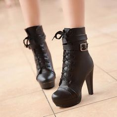Buy '77Queen – Buckled Lace-Up Ankle Boots' with Free International Shipping at YesStyle.com. Browse and shop for thousands of Asian fashion items from China and more!
