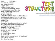 Teaching and so Fourth: Text Structure
