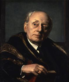 Portrait of Charles McMoran Wilson (1883–1977), 1st Baron Moran, 1951 by Pietro Annigoni (1910-1988). Wilson was Winston Churchill's physician for 25 years, and helped establish the National Health Service in the UK. We owe him a lot, then...... Everything by Annigoni is so finely rendered - flawless paint surface.