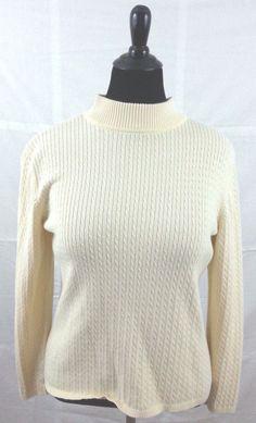 Karen Scott Yellow Sweater Long Sleeve Large #KarenScott #Sweater