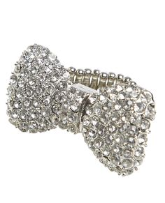 Blingy Bow Stretch Ring from Wet Seal