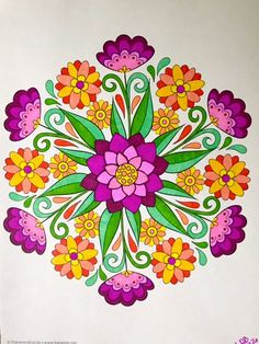 Loving Flower Mandalas! #designoriginals colorbyleeannbreeding 3 12 16