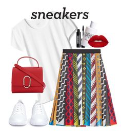 """""""So Fresh:White Sneakers!"""" by sereneowl ❤ liked on Polyvore featuring Mary Katrantzou, Edward Bess, 3.1 Phillip Lim, Juliette Has A Gun, Lime Crime and Opening Ceremony"""