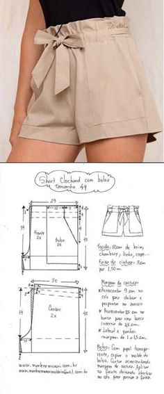 Terrific Pics easy sewing shorts Tips Hose 😍♥️ Diy Clothing, Clothing Patterns, Dress Patterns, Fashion Sewing, Diy Fashion, Fashion Outfits, Denim Outfits, Moda Fashion, Sewing Shorts