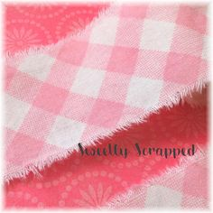 PINK GINGHAM Ribbon, Plaid, Torn, Shabby Chic, Spring, Summer, Valentine, Hand Frayed, Embellishment, Fabric, Country, Shabby Chic