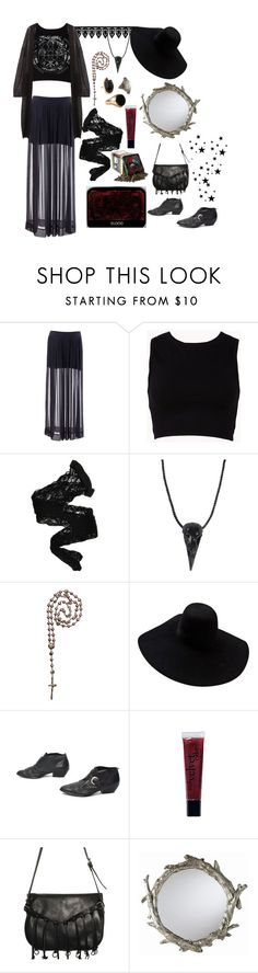 """Dark Mother Divine"" by morbid-octobur ❤ liked on Polyvore featuring Forever 21, MTWTFSS Weekday, Wolford, Natalia Brilli, Waxing Poetic, Lanvin, philosophy, Balmain, DwellStudio and vintage"