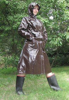 Glamour in Wellies Pink Raincoat, Plastic Raincoat, Hooded Raincoat, Parka, Wellies Rain Boots, Rain Gear, Pvc Coat, Unisex, Preppy Style