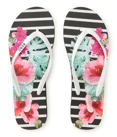 7b8f4049f6b565 Floral Snapshot Striped Flip-Flop - Aeropostale I have these!!! I love