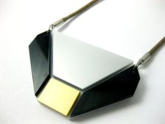 Gold square contemporary necklace - geometric jewelry | anmarkdesign