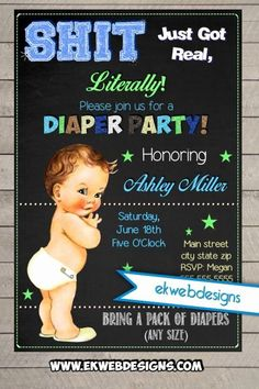 Baby Shower Invitations Ideas for Boys Elegant Diaper Party Invitations Neutral or Its A Boy Baby Shower Invite Sh T Just Got Real Diaper Party Invitations, Baby Shower Invitation Templates, Baby Shower Invitations For Boys, Invitation Ideas, Invites, Diaper Parties, Baby Shower Parties, Baby Showers, Free Diapers