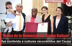 """La Cámara de Representantes mediante Resolución de Honores, confirió la condecoración Orden de la Democracia """"Simón Bolívar"""" al Grupo Palmeras, a la Fundación Folclórica Quilisamanes, y a Carlos Fernando Balanta Mezú """"Baterimba"""". [http://www.proclamadelcauca.com/2014/10/orden-de-la-democracia-simon-bolivar-fue-conferida-a-cultores-reconocidos-del-cauca.html]"""