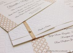Impressão combinando com a textura do envelope