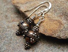 Handcrafted Jewelry Handmade Earrings Copper & by JensFancy, $22.00