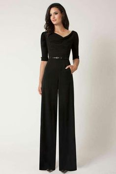 427363413d8 This Sleeve Jackie Jumpsuit by Black Halo is long