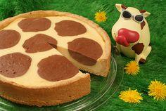 Ein Käsekuchen mit Schokoladenflecken für Kinder Sweet Like Chocolate, Grandma Cake, Best Cake Ever, Kid Friendly Meals, Flan, Food Inspiration, Bakery, Cheesecake, Pancakes