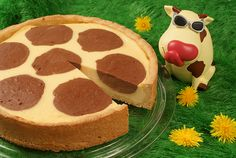 Ein Käsekuchen mit Schokoladenflecken für Kinder