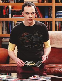 Jim Parsons as Sheldon Cooper...he looks really hot here.