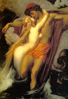 Frederic Lord Leighton  British, 1830 - 1896  The Fisherman and the Siren    Date: 1856-58