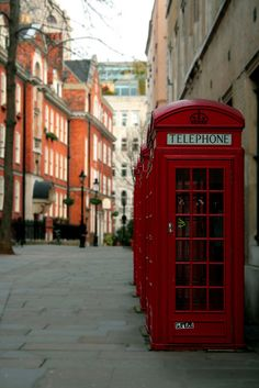 phone boxes, London