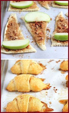 Sweet Apple Crescent Rolls 24 Delicious Thanksgiving Desserts That Aren't Pie Apple Crescent Rolls, Crescent Roll Recipes, Dessert With Crescent Rolls, Crescent Roll Apple Turnovers, Pilsbury Crescent Recipes, Apple Pie Crescents, Cresent Rolls, Aperitivos Finger Food, Holiday Recipes