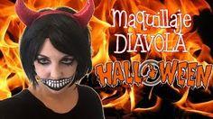 Maquillaje de HALLOWEEN * DIABLESA  * ¡Hoy no hay cole! - YouTube