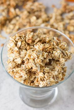Make your own granola and don't worry about the calories, there is only 1 tbsp of oil in this tasty treat.Low Fat Sesame and Sunflower Seed Granola