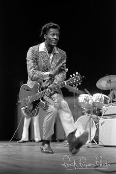 Chuck Berry - My Dad turned me on to Chuck at a very young age and I have loved him ever since. I always loved his duck walk while playing guitar as a kid!