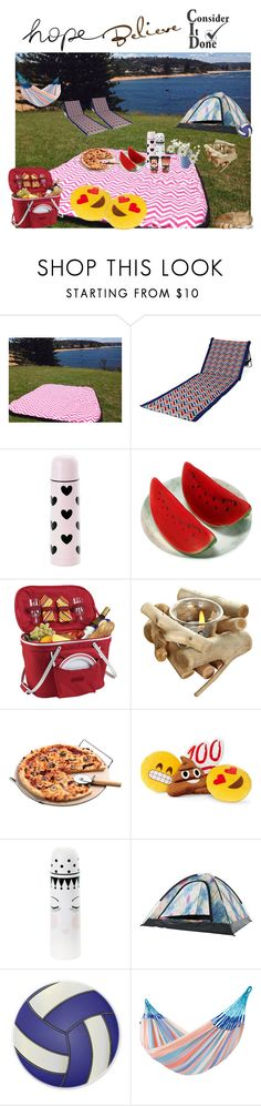 """""""picnic"""" by damlainpolyvoreland ❤ liked on Polyvore featuring interior, interiors, interior design, home, home decor, interior decorating, Picnic Time, Miss Étoile, Picnic at Ascot and Throwboy"""
