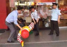 Ronald McDonald Statue Taken Into Custody in China