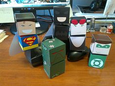 Free DC Comics Super Hero Paper Toys - Collect Them All!
