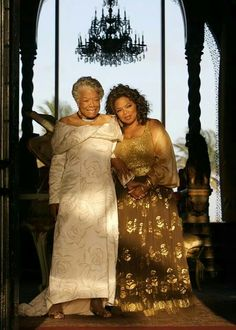 Oprah and her soul's mother, Dr. Maya Angelou