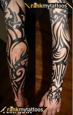 Full Sleeve Tattoos | Full sleeve abstract tribal Tribal Tattoo
