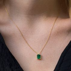 Emerald necklace Green Emerald gold necklace necklace necklaces for women Emerald jewelry May birthstone Emerald pendant Green Emerald Pendant, Emerald Necklace, Emerald Jewelry, Green Necklace, Pendant Necklace, Gold Jewelry, Pearl Necklace, Women Jewelry, Cute Jewelry