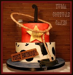 For the cowboy! Custom cake in Yuma  by Yuma Couture Cakes, via Flickr