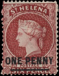 Helena Island Queen Victoria British Crown Brand on Old Stamps, Vintage Stamps, Colonial, Crown Colony, Anglo Saxon, Mail Art, Stamp Collecting, My Stamp, St Helena