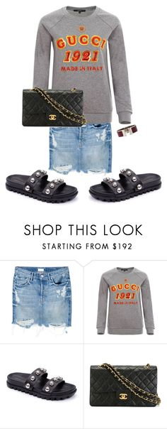 """""""Untitled #16"""" by elizabethstanford on Polyvore featuring Mother, Gucci, Loeffler Randall, Chanel and Hermès"""
