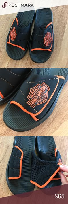New Harley Davidson Black Slip On Sandals Size 8 ⚜️I love receiving offers through the offer button!⚜️ Great like new (new without tags) condition, as seen in pictures! Fast same or next day shipping!📨 Open to offers but I don't negotiate in the comments so please use the offer button😊 Check out the rest of my closet for more Adidas, Lululemon, Tory Burch, Urban Outfitters, Free People, Anthropologie, Victoria's Secret, Sam Edelman, Topshop, Asos, Revolve, Brandy Melville, Zara, and…