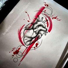 Projet disponible Infos, tarif, réservation -» insanitydoll@hotmail.fr  #tattoos #tattooartist #tattooist #tattooflash #tattoosketch #trashpolka #heart #humanheart #geometrictattoo #ornementaltattoo #blood #bloody