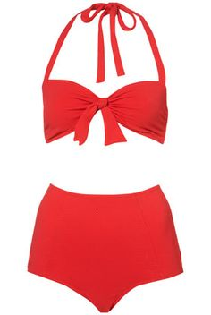 RED TEXTURED BIG PANT BIKINI  $64.00 TOPSHOP