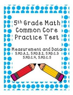 This is a practice exam for the 5th grade common core standards in Measurement and Data (metric system, customary/US system, volume, line plots)It includes 20 multiple choice questions and 5 short answer/extended response questions.Great for state exam practice or as a classroom assessment!Answer key included.