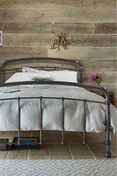 Next Shoreditch Metal Bedstead With Footend - Black Bedroom Green, Home Bedroom, Bedroom Decor, Bedroom Ideas, Single Metal Bed, Metal Bedsteads, Black Metal Bed Frame, Bed Next, Black Bedding