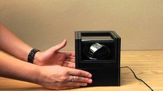 This automatic watch winder will keep your favourite watch wound and ready to wear. Jewellery Storage, Watches, Youtube, Wrist Watches, Wristwatches, Tag Watches, Watch, Youtube Movies, Jewelry Storage