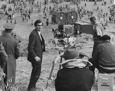 Stanley Kubrick on the set of SPARTACUS.