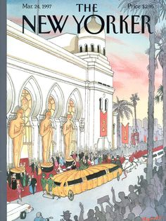 "The New Yorker - Monday, March 24, 1997 - Issue # 3745 - Vol. 73 - N° 5 - Cover ""The Big Night"" by Lawrence Mynott"