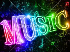 palabra colorida música — Imagen de stock #5221819